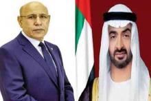 ولي عهد أبوظبي و الرئيس محمد ولد الشيخ الغزواني - (مصدر الصورة: وما)