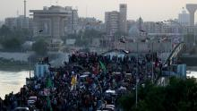 من احتجاجات العراق المصدر: دبي - قناة العربية