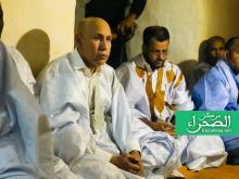 وزير الشؤون الإسلامية رفقة الرئيس غزواني بمسجد شنقيط - (أرشيف الصحراء)