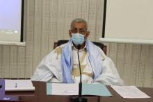 رئيس الحزب سيدي محمد ولد الطالب أعمر لدى ترؤسه الاجتماع
