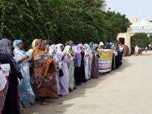 وقفة احتجاجية للمعلمين أمام وزارة التعليم (المصدر: انترنت)