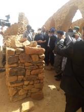 وزير الثقافة والوفد المرافق في معاينة للمواقع الأثرية بوادان