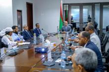 الرئيس غزواني في اجتماع أمس - (المصدر: وما)