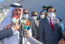 صور من حفل تسليم الإمدادات الطبية-(المصدر: وما)