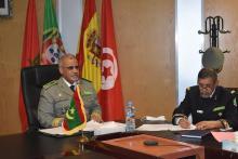قائد الأركان محمد ولد مكت خلال مشاركته في اجتماع ل5+5 ـ (المصدر: موقع الجيش)