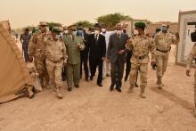 جانب من حفل تدشين المراكز الطبية العسكرية (الجيش الوطني)