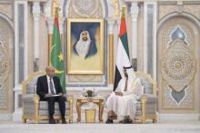 الرئيس غزواني في لقاء مع محمد بن زايد ـ (المصدر: الإنترنت)