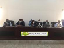 وزير الصحة لدى حضوره للاجتماع في نواذيبو (و م أ)