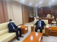 رئيس أرباب العمل يستقبل السفير السنغالي ـ (المصدر: الإنترنت)