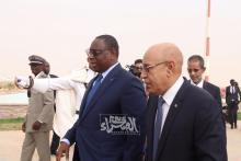 الرئيس غزواني يستقبل نظيره السنغالي - (الصحراء Plus)