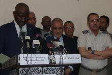 وزير الداخلية رفقة مدير الأمن وقائد الحرس - (المصدر: الصحراء Plus)