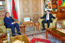 وزيرا الخارجية الموريتاني والمغربي  في لقاء سابق ـ (المصدر: الإنترنت)