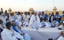 اجتماع بعثة  UPR بمنتسبي الحزب في الحوض الشرقي- المصدر (الصحراء)