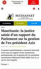 صحيفة Mediapart تنشر تقريرا عن موريتانيا