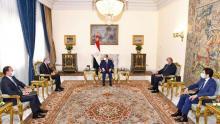 جانب من لقاء الرئيس السيسي بوزير الخارجية الأردني بحضور سامح شكري