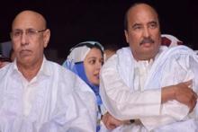 الرئيس ولد الشيخ الغزواني رفقة الرئيس السابق ولد عبد العزيز (ارشيف - انترنت)