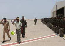 مراسيم توديع وحدة الدرك صباح اليوم - (المصدر: وكالة الأنباء الرسمية)