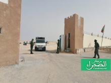 حاجز النقطة الحدودية بين موريتانيا والمغرب