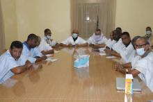 المكتب التنفيذي لتواصل خلال اجتماعه أمس ـ (المصدر: الإنترنت)