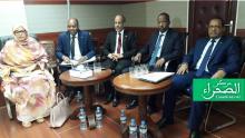 إعضاء الحكومة لدى حضور قبيل انطلاق المؤتمر الصحفي - الصحراء