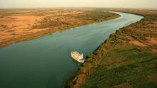 نهر السنغال الفاصل بين البلدين (المصدر: الانترنت)