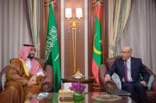 الرئيس غزواني في لقاء مع ولي العهد السعودي (المصدر: انترنت)