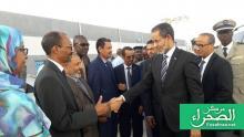 الوزير الأول إسماعيل ولد بده في نشاط رسمي سابق (ارشيف الصحراء)