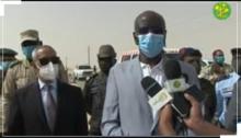 وزير الداخلية خلال تصريحه عقب زيارة تفقدية لمداخل نواكشوط ـ (المصدر: وما)