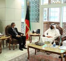جانب من الاجتماع بين وزيري مالية البلدين (المصدر: وزارة المالية الكويتية)