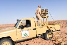 جانب من مناورات الجيش الموريتاني في الشمال -المصدر(الجيش الموريتاني)