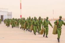 الوحدة العاشرة من الدرك تغادر إلى بانغي -المصدر(الوكالة الموريتانية للأنباء)