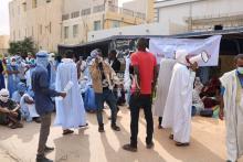 اعتصام مقدمي خدمات التعليم أمام وزارة التهذيب (ارشيف - الصحراء)