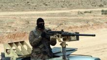 جندي تونسي على الحدود مع ليبيا