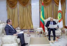 الرئيس غزاني يستقبل رسالة من الرئيس الجزائري - (المصدر: وما)