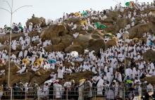 أكثر من مليوني حاج يقفون على عرفات اليوم - (المصدر:رويترز)