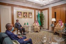 لقاء الوزيرين بالرياض (المصدر: الوكالة الموريتانية للأنباء)