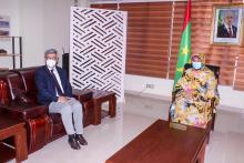 جانب من لقاء الوزيرة مع الممثل الأوروبي المقيم بنواكشوط (و م أ)