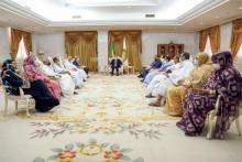 الرئيس غزواني يستقبل قادة منسقية الأحزاب الممثلة في البرلمان ـ (المصدر: وما)