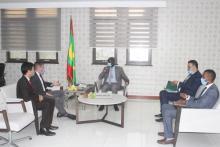 وزير الشؤون الاقتصادية يستقبل السفير الأمركي لدى نواكشوط ـ (المصدر: وما)