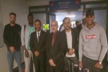 وصول 4 طلاب موريتانين قادمين من الصين مطار نواكشوط (المصدر: وما)
