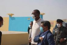 جانب من زيارة وزير المياه لورشات إنجاز شبكات للمياه في نواكشوط