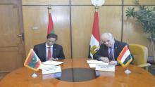 جانب من توقيع مذكرة التفاهم بين موريتانيا ومصر (انترنت)