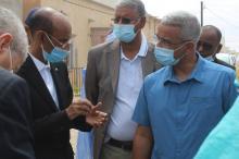 وزير المياه خلال تفقد بعض مشاريع قطاعه بنواكشوط ـ (المصدر: صفحة الوزارة)