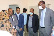 وزير الإسكان خلال زيارته لوكالة ADU- المصدر (فيسبوك)