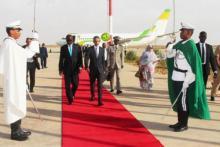 الوزير الأول لدى وصوله مطار نواكشوط الدولي - وما