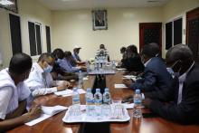 وزير المياه يجتمع بطاقم شركة المياه ـ (المصدر: صفحة وزارة المياه)
