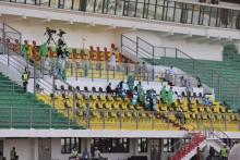 الملعب الأولمبي ساعات قبل حفل افتتاح البطولة )المصدر:انترنت )