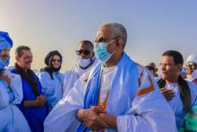 رئيس حزب UPR خلال زيارته لنواذيبو- المصدر: (فيسبوك)