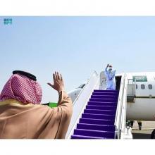 الرئيس غزواني خلال مغادرته للسعودية- وكالة الأنباء السعودية