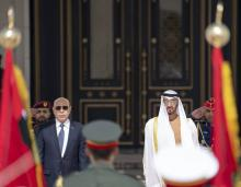 الرئيس غزواني مع ولي العهد محمد بن زايد (المصدر :حساب ولي العهد على تويتر)